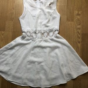 Divided by H&M White Dress with Waist Cutout